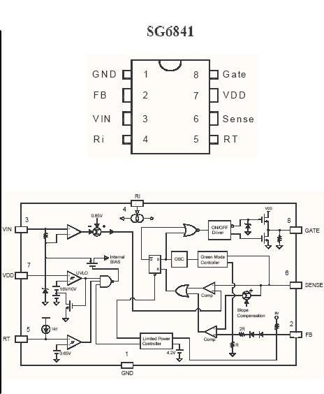 sg6841d pwm ic internal diagram