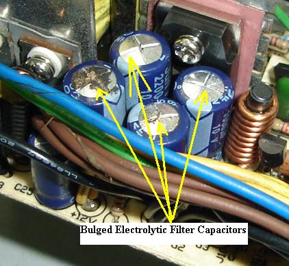 bulged capacitor