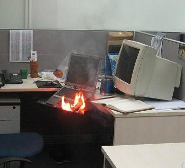 notebook burnt