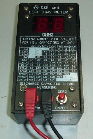 Esr Meter Chart Electronics Repair And Technology News