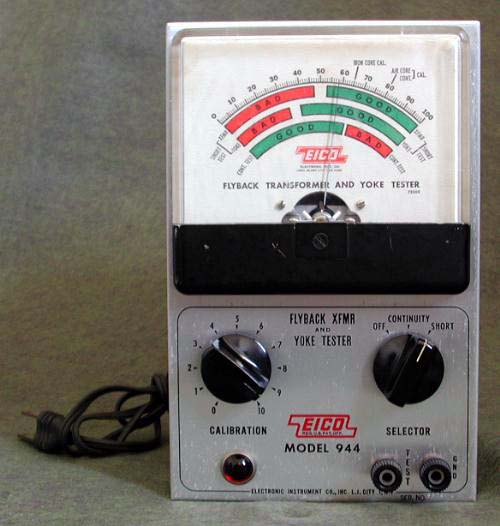 1950 S Eico Flyback And Coil Tester Electronics Repair