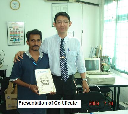 certificate in electronic
