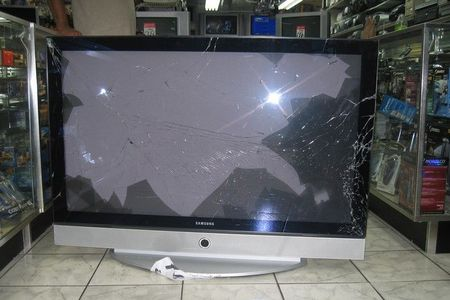 lcd tv cracked