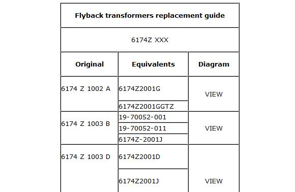 flyback replacement