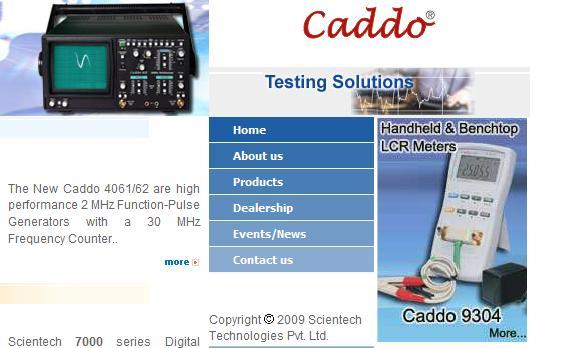Caddo Test Equipment Website