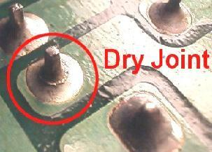 Cold Solder Joint >> Dry Joints In Surrounding/Corresponding Components | Electronics Repair And Technology News