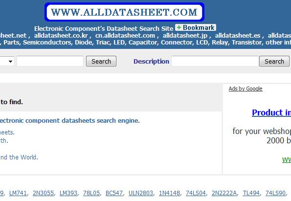 Alldatasheet catalogue