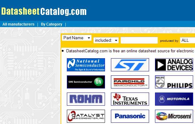 Datasheet catalog