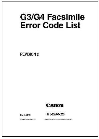 error code list