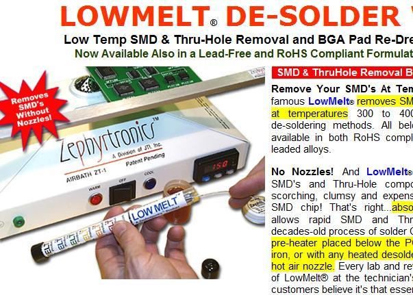 low melt desolder