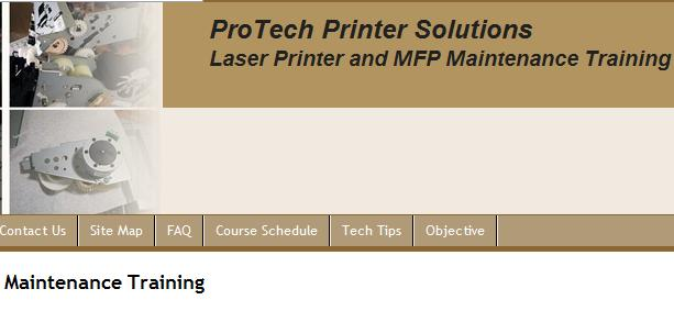 laser printer repair course