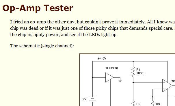 Op amp tester