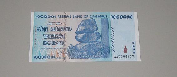 zimbabwe cash note