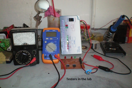 testers in lab