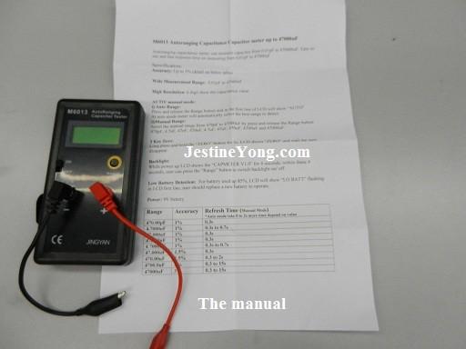 jingyan m6013 autoranging digital capacitance meter