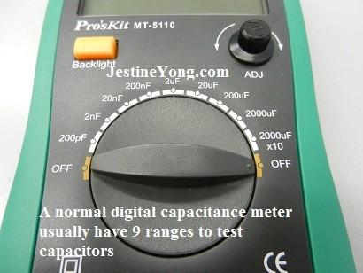 jingyan m6013 digital capacitance meter