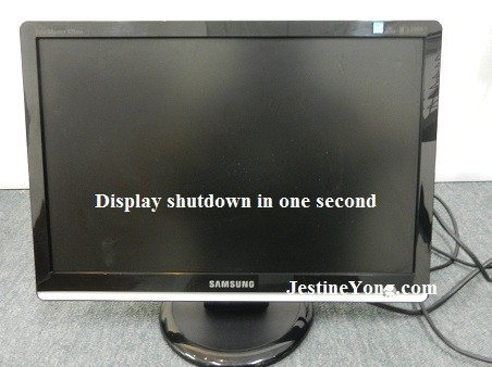 display shutdown