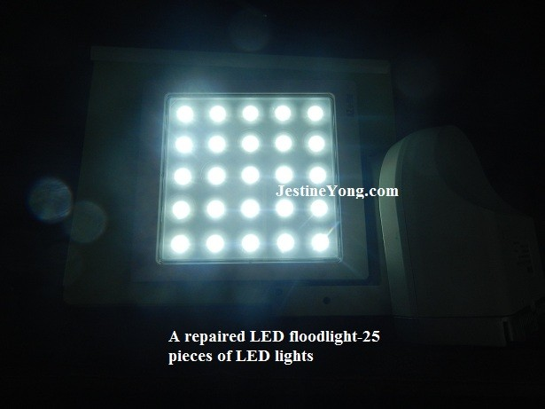 repairing led floodlight