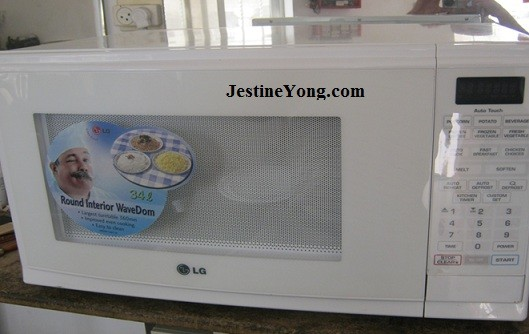A smoking LG microwave oven repaired  Model: MS-3443A
