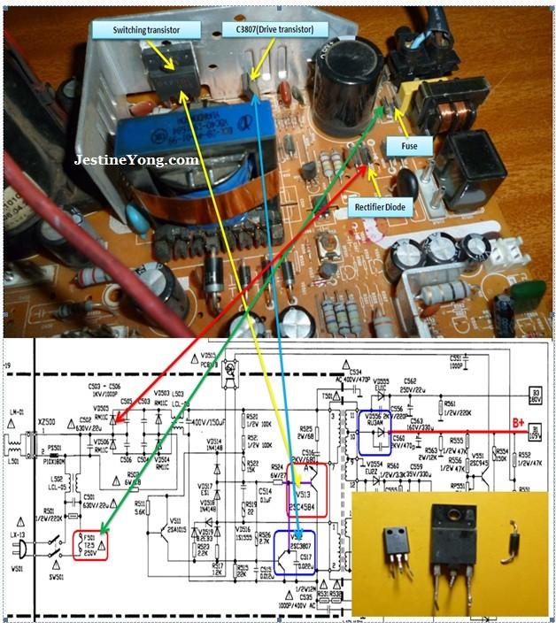 Tv Circuit Board Diagram Repair - Wiring Diagram Center
