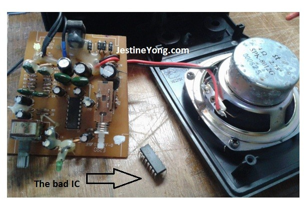 stereo speakers repair