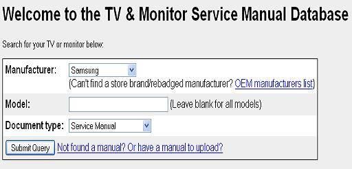 tv service manual