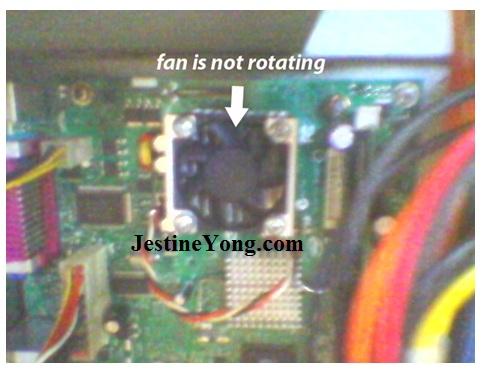 cpu fan problem