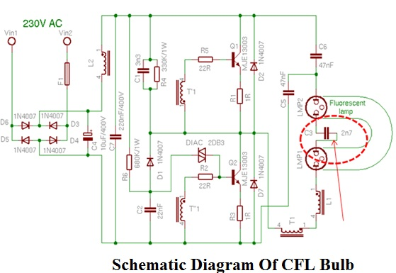 Cfl bulb diagram wiring diagram 15w compact fluorescent lamp cfl bulb repaired electronics wiring diagram cheapraybanclubmaster Gallery