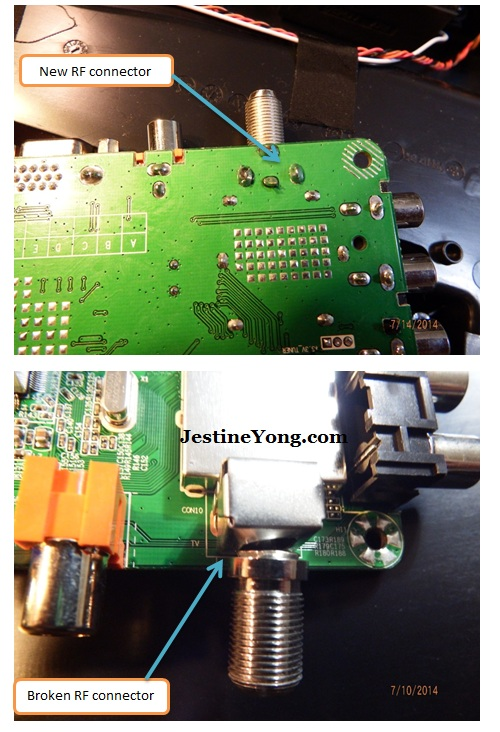 lcd tv rf connector repairing
