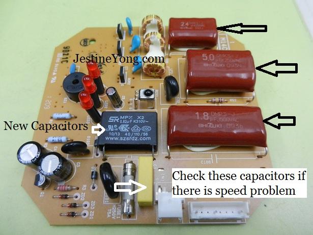 ceiling fan capacitor repairing