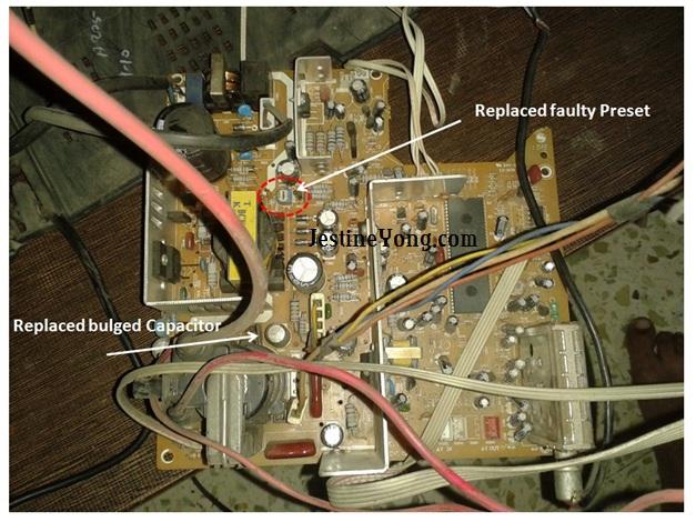 crt tv problem repair
