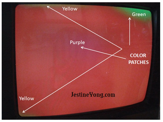 CRT TV Color Patches Problem Solved | Electronics Repair And