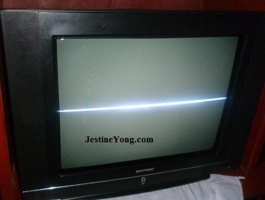 tv one horizontal line repair