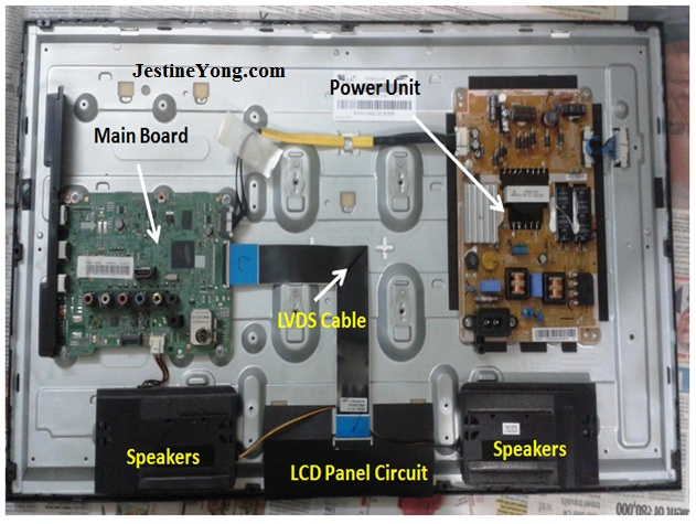 led circuit diagram samsung display problem in samsung lcd tv repaired electronics