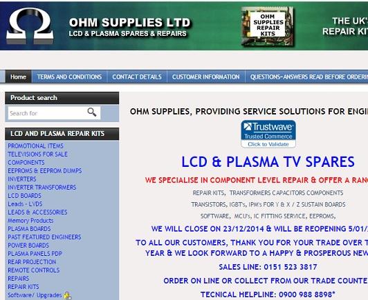 plasmatvpartswebsite