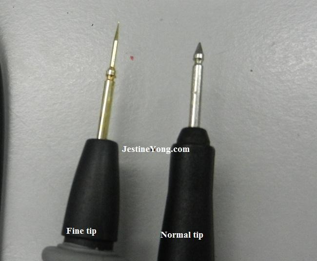test probe fine tip
