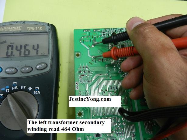 lcd monitor transformer test