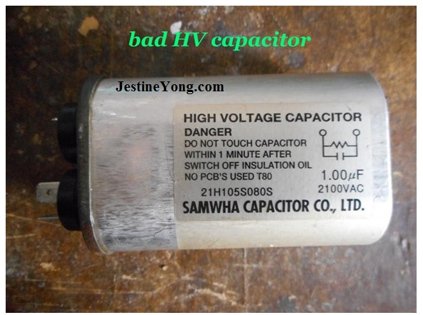 microwaveoven capacitor