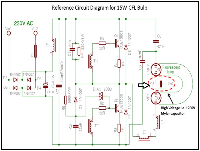 cfl bulb repair electronics repair and technology news rh jestineyong com cfl circuit diagram pdf cfl circuit diagram+working