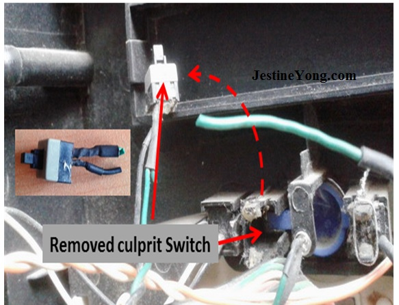 computer power switch repair