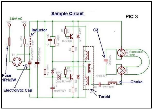 cfl bulb repair circuit