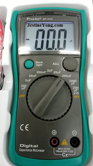 pro's kit digital capacitance meter
