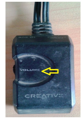 creative speaker volume problem
