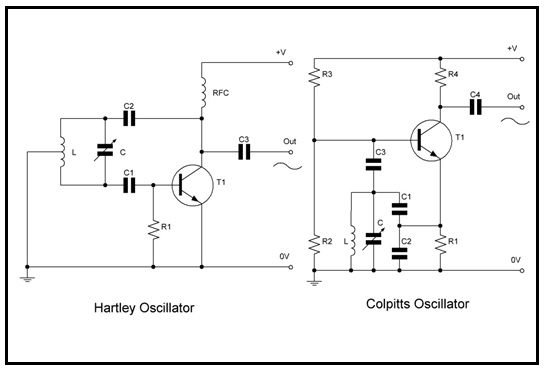 hartley colpitts oscillator