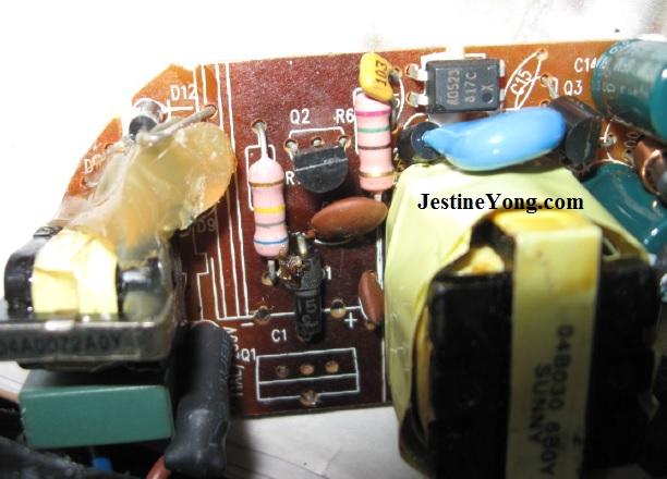 power adapter repair 8050s transistor