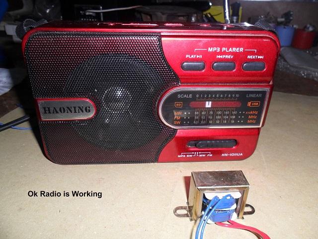 repair transformer radio