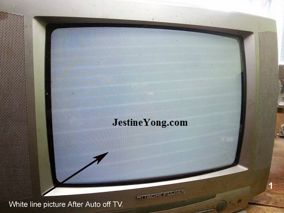 crt tv white screen