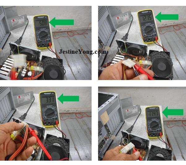 atx power supply voltage