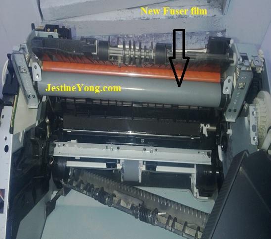 hp 1012 fuser film repairing