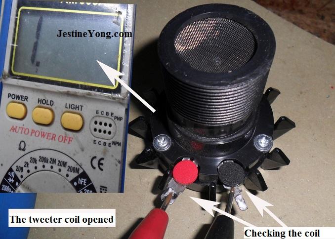 repairing tweeter speaker